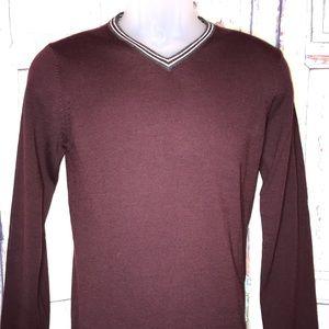 NEW! H&M Men's VNeck Merino Wool Sweater XS